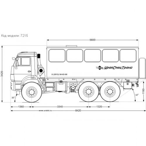 Вахтовый автобус Камаз 5350-42 22 места УСТ-5453